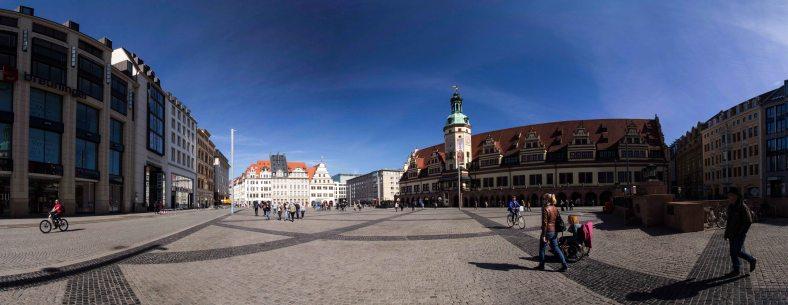 Marktplatz und Altes Rathaus Panorama