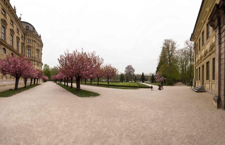 Würzburger Residenz Garten Panorama 1